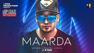 Maarda By J Star - Lyrics
