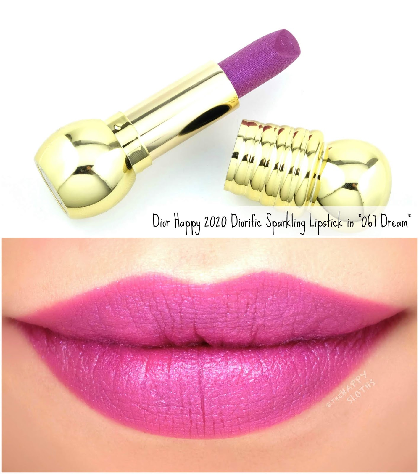 "Dior | Happy 2020 Diorific Sparkling Lipstick in ""067 Dream"": Review and Swatches"