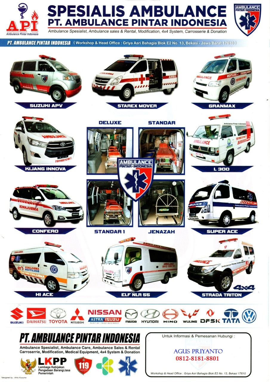 Pt Ambulance Pintar Indonesia Spesialis Karoseri Mobil Ambulans Modifikasi Mobil Jenazah