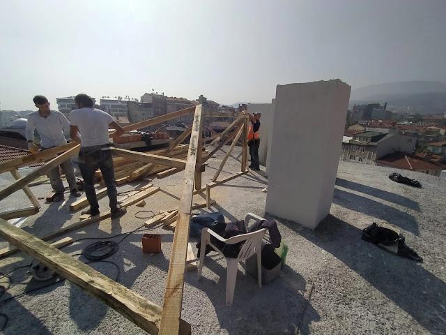 ahşap oturtma çatı yapılması