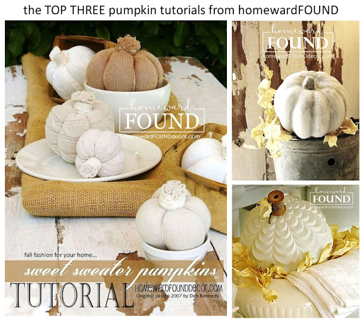 tutorials, fall, pumpkins, diy, home decor, diy decorating, painting, sweater pumpkins, concrete pumpkins, glass globe pumpkins, original creations,  homewardFOUND decor