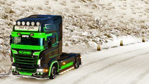 Black & Green Extreme paint job for Scania RJL (EviL)