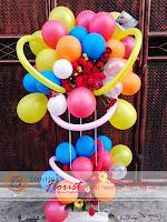 rangkaian balon dan bunga, bunga balon ulang tahun, toko bunga di jakarta, rangkaian bunga ucapan kelahiran bayi
