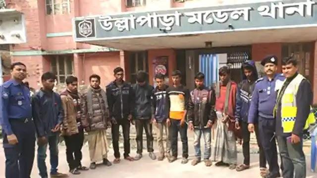 উল্লাপাড়ায় ভ্রাম্যমান আদালতে ১০ জুয়ারির অর্থদন্ড