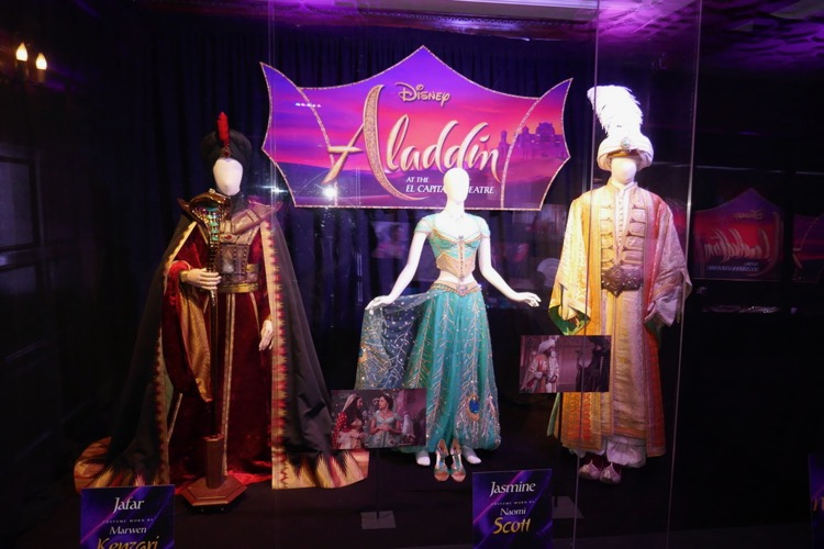 Aladdin movie costume exhibit