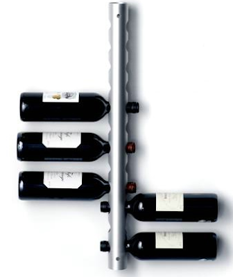 wine rack, wall-mounted