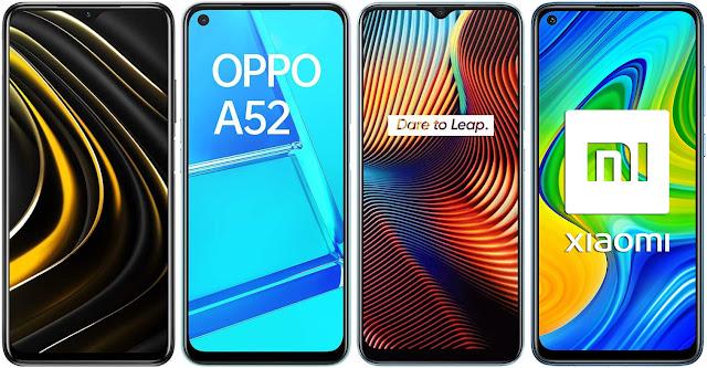 Xiaomi POCO M3 vs Oppo A52 vs Realme 7i vs Xiaomi Redmi Note 9
