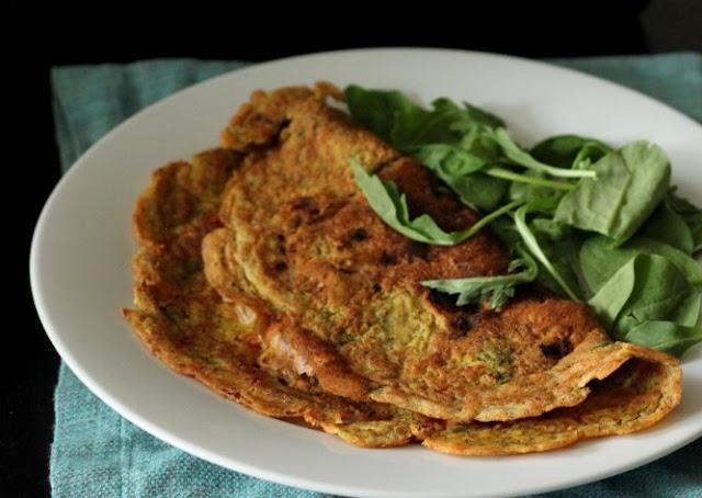 Vegan Chickpea Omelette #breakfast #vegan