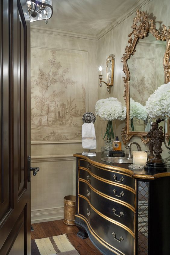 Random stuff i love south shore decorating blog for Gorgeous powder rooms