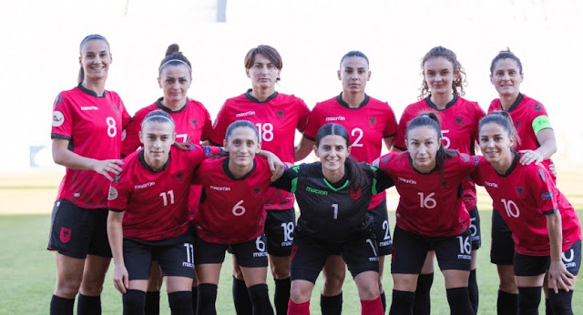 The Albanian women's national team wins 4-0 against Cyprus