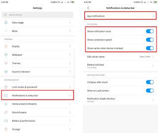 masuk ke settings notifikasi smartphone