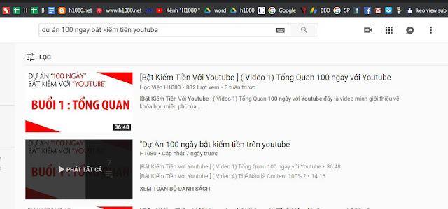 Thiết Lập Danh sách Video