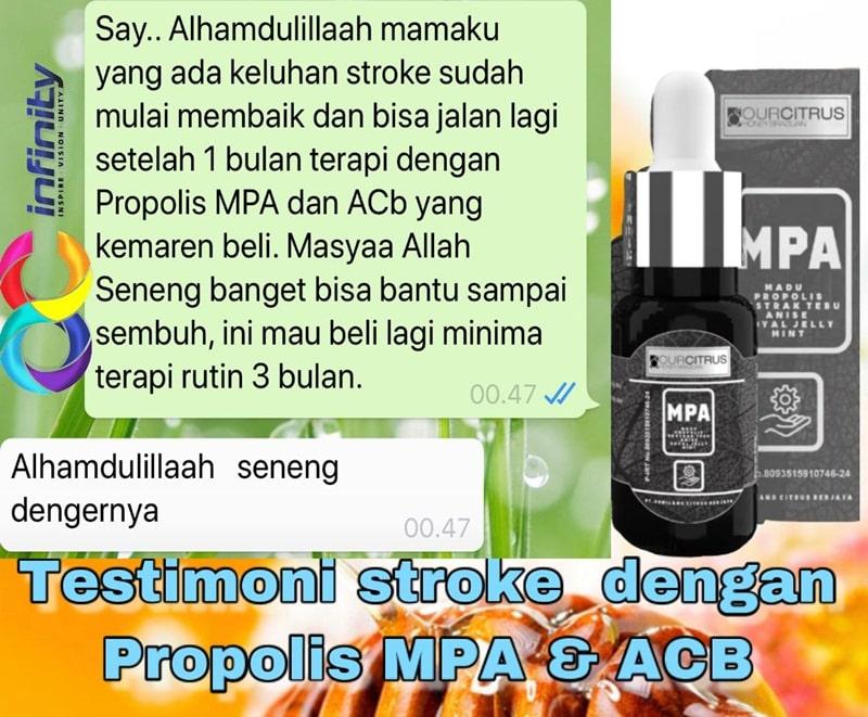 stroke sembuh dengan MPA propolis dan ACB ourcitrus