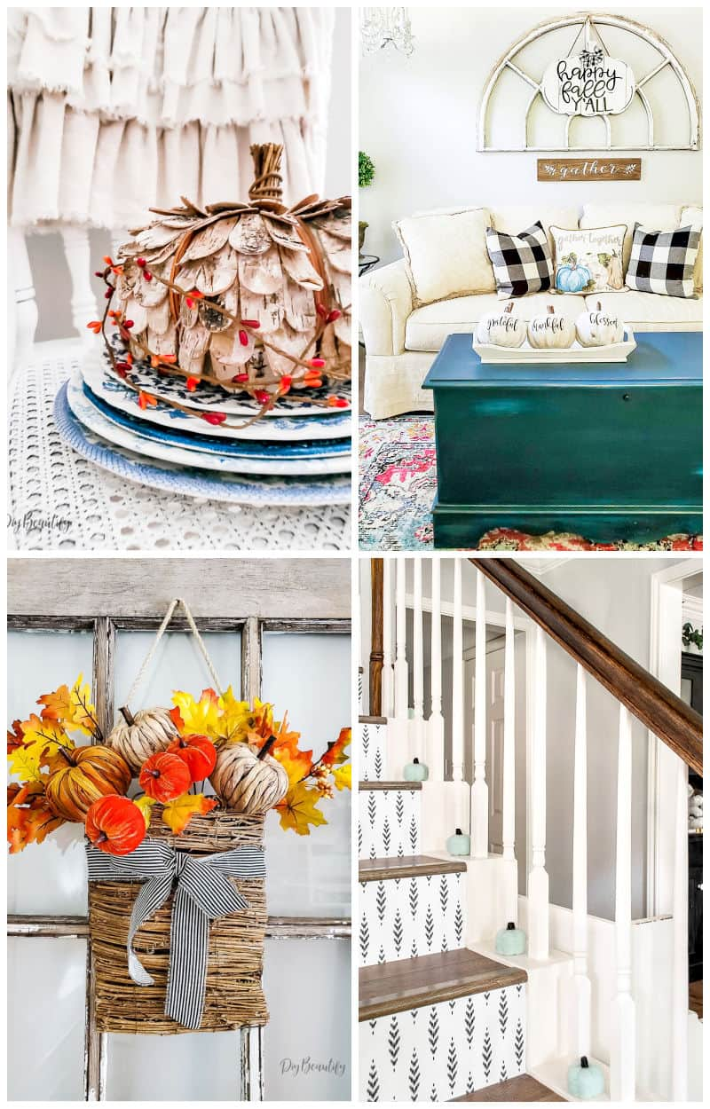 fall home collage