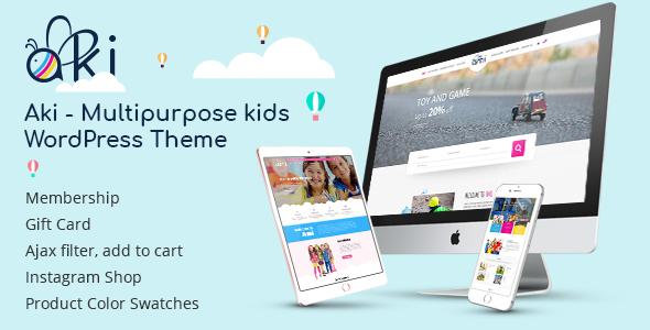 Aki Multipurpose Kids Responsive WordPress Themes