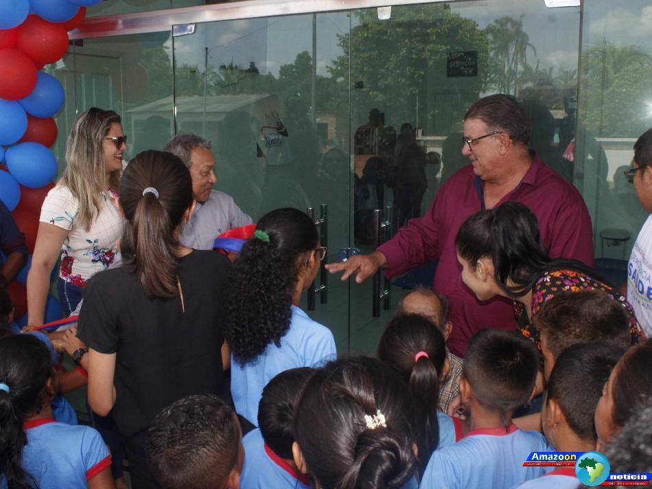 Prefeitura de Óbidos inaugura mais uma Unidade Básica de Saúde na comunidade Arapucu.