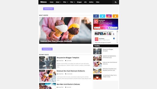 Mocca Responsive Blogger Template - Responsive Blogger Template