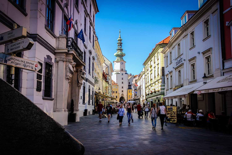 Bratislava Old Town Lane Michael's Gate