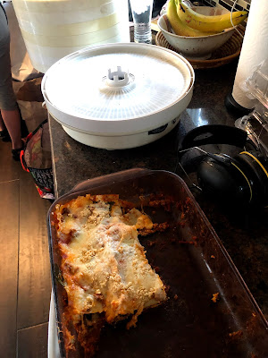 Leftover Lasagna and Dehydrator