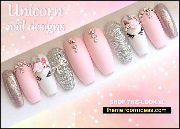 Pink unicorn press on nails Unicorn Chrome Press On Nails Unicorn Fake Nails Rainbow Nails