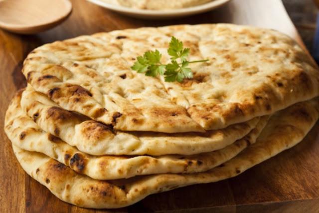 Paleo Garlic Naan Bread #healthy #lunch
