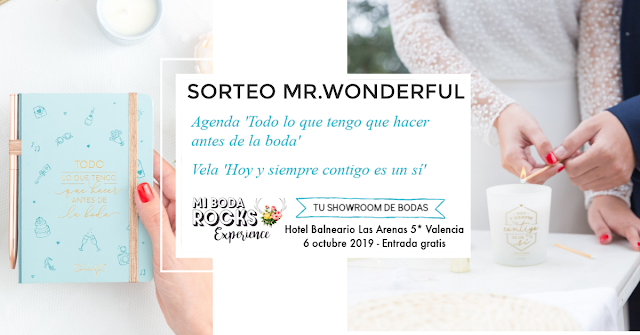 sorteo mr wonderful mi boda rocks experience valencia