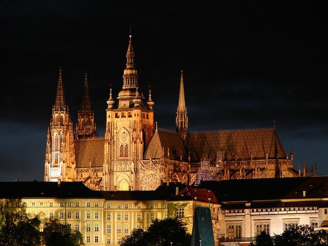 Çekya başkenti Prag'da bulunan muhteşem bir kale