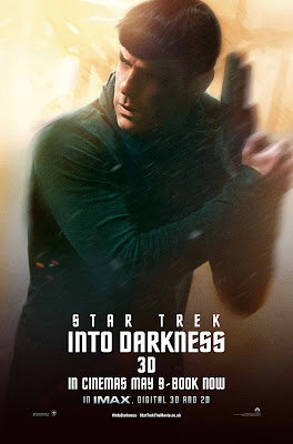 Star Trek Into Darkness Spock played by Zachary Quinto Character Poster