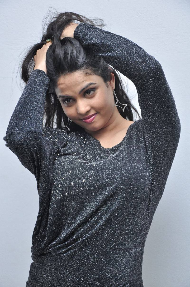 Anchor Chitralekha Hot Cute Stills In Black Dress