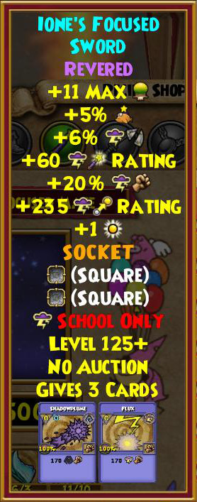 Wizard101 Best Storm Gear Level 130+