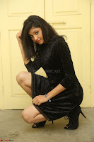 Mounika in a velvet short black dress for Tick Tack Movie Press Meet March 2017 074.JPG