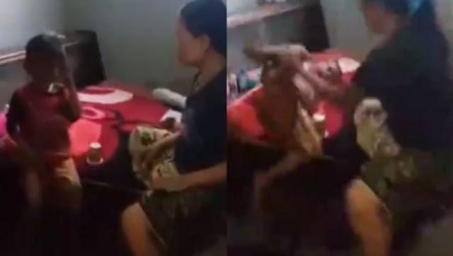Video Ibu Pukul dan Sumpahi Anaknya: Bapakmu Sudah Nggak Kirimkan Duit