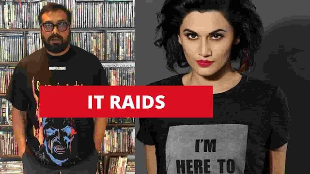 IT raids anurag Kahsyap and taapsee panu