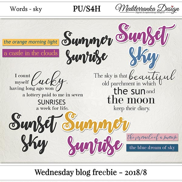 WINNER + WEDNESDAY BLOG FREEBIE - 2018/8