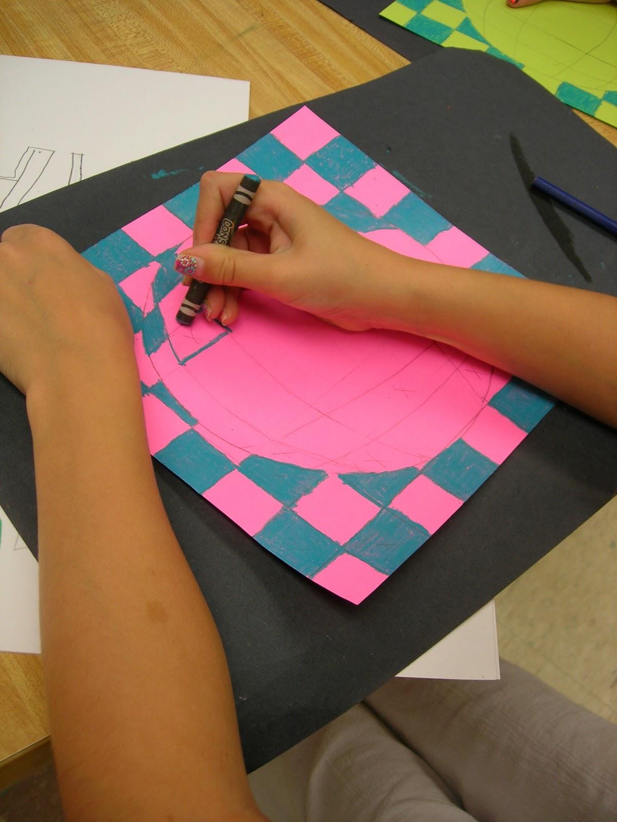 Mrs Manzella S Student Gallery 4th Grade Op Art