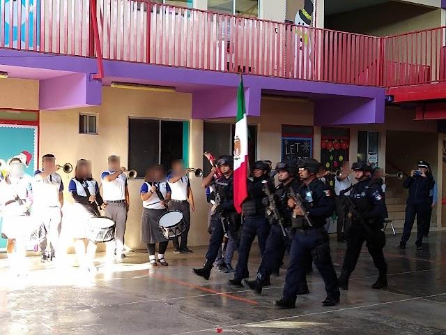 GUARDIA NACIONAL REALIZA ACTIVIDADES DE PROXIMIDAD SOCIAL EN ESCUELA DE REYNOSA, TAMAULIPAS