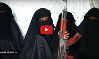 Watch Video of 4 Chibok Girl Turned Full-fledged B'Haram Fighters Clutching AK47 Gun, Reveals Why They Won't Return Home