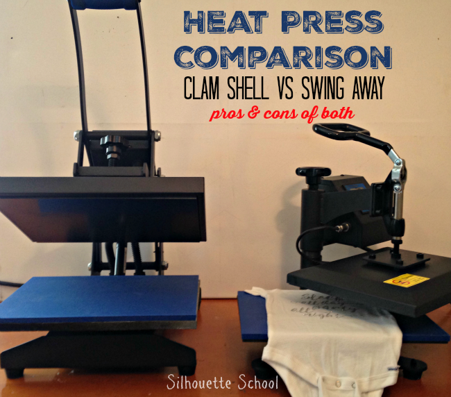 Heat Press, clam shell, swing away