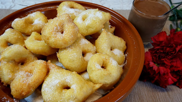 Buñuelos de patata y boniato de Mallorca