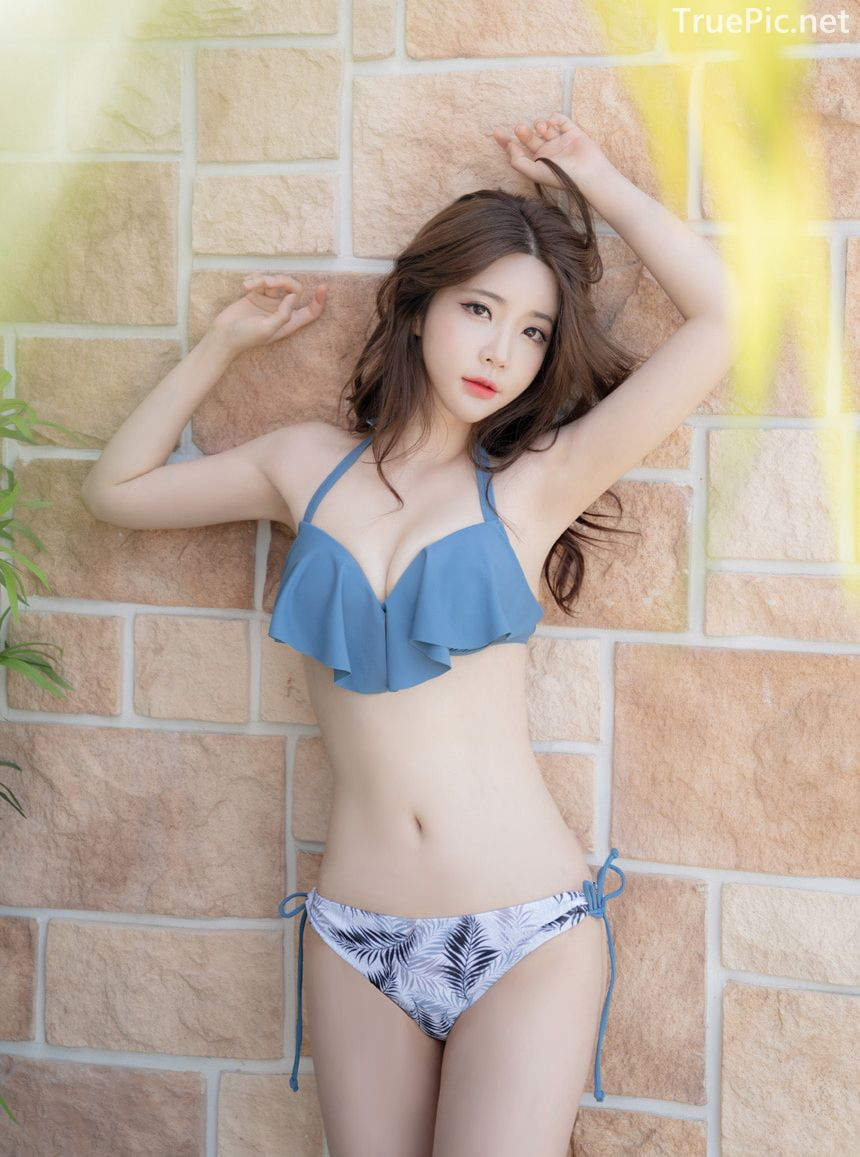 Korean model and fashion - Yoo Gyeong - In front of Brick Wall - Beachwear fashion