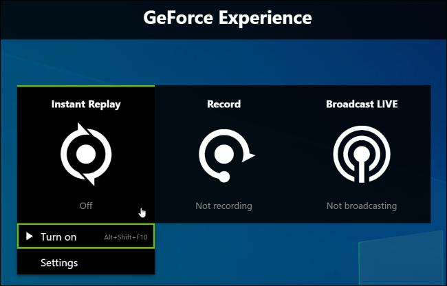 تنشيط تسجيل خلفية التشغيل الفوري لـ NVIDIA