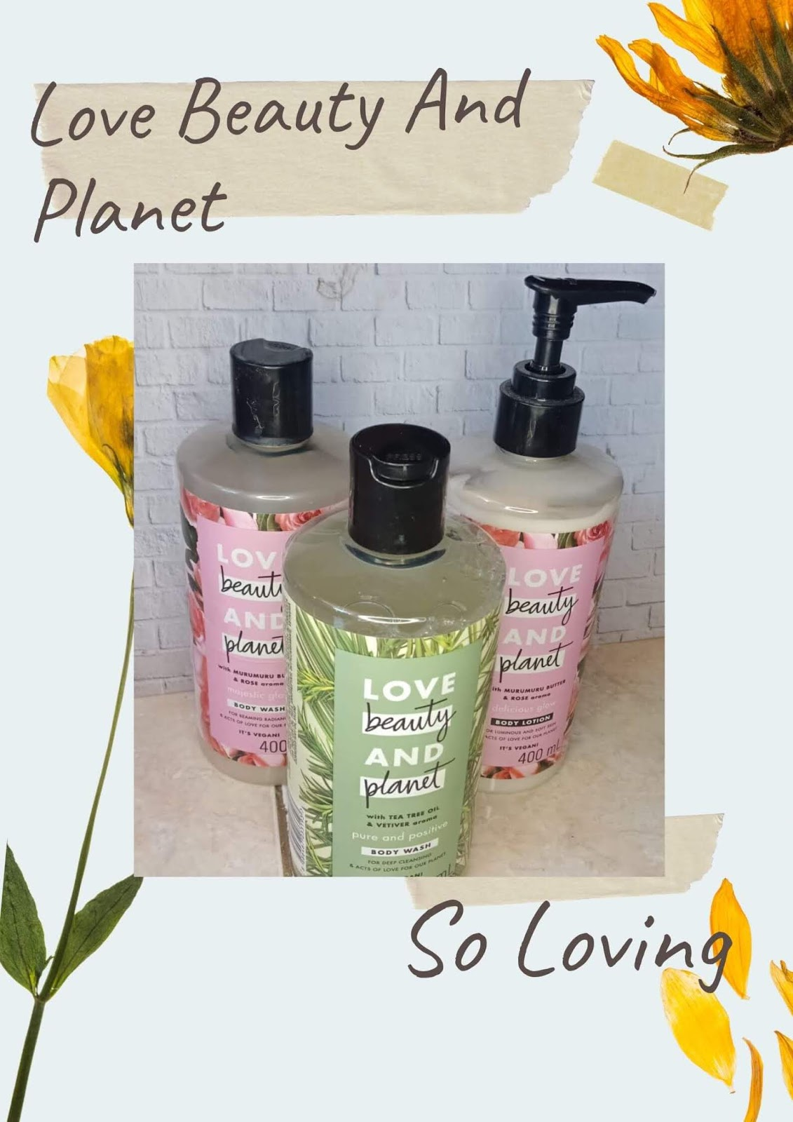 [Review] Love Beauty And Planet Body Wash Lotion Series
