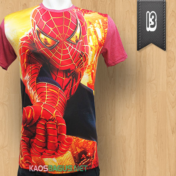 Kaos Spiderman Merah