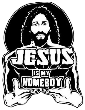 Homeboy Jesus means a Jesus that is common, just like us, and easily attainable.