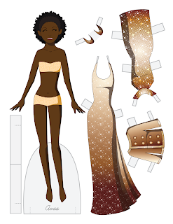 Ava - Fashion Friday Paper Doll