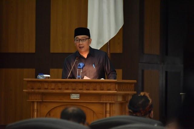 Ridwan Kamil : Enam Dasar Penyusunan  KUPA -PPAS Perubahan APBD 2020
