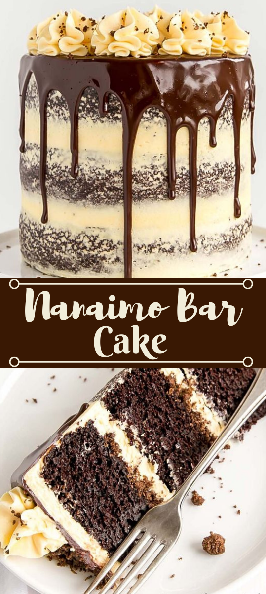 NANAIMO BAR CAKE #dessert #cakes #easy #recipes #bars