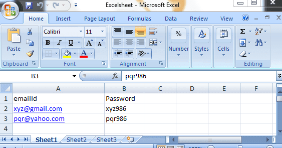 How to send multiple Data from the Excel Sheet using POI API