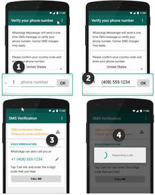 Changing WhatsApp number in smartphone