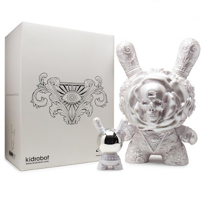 "The Clairvoyant Pearlescent White Edition 20"" Dunny Vinyl Figure by J*RYU x Kidrobot"